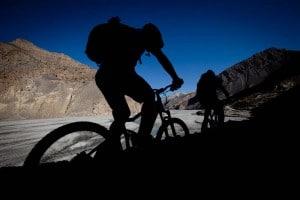 Mountain biking the Kali Gandaki Valley in Nepal