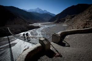 Suspension bridge in the Kali Gandaki Valley, Nepal