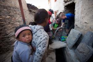 Puncture repairing in Nepal