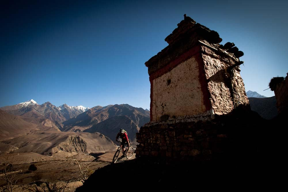 Mountain biking in Lower Mustang, Nepal