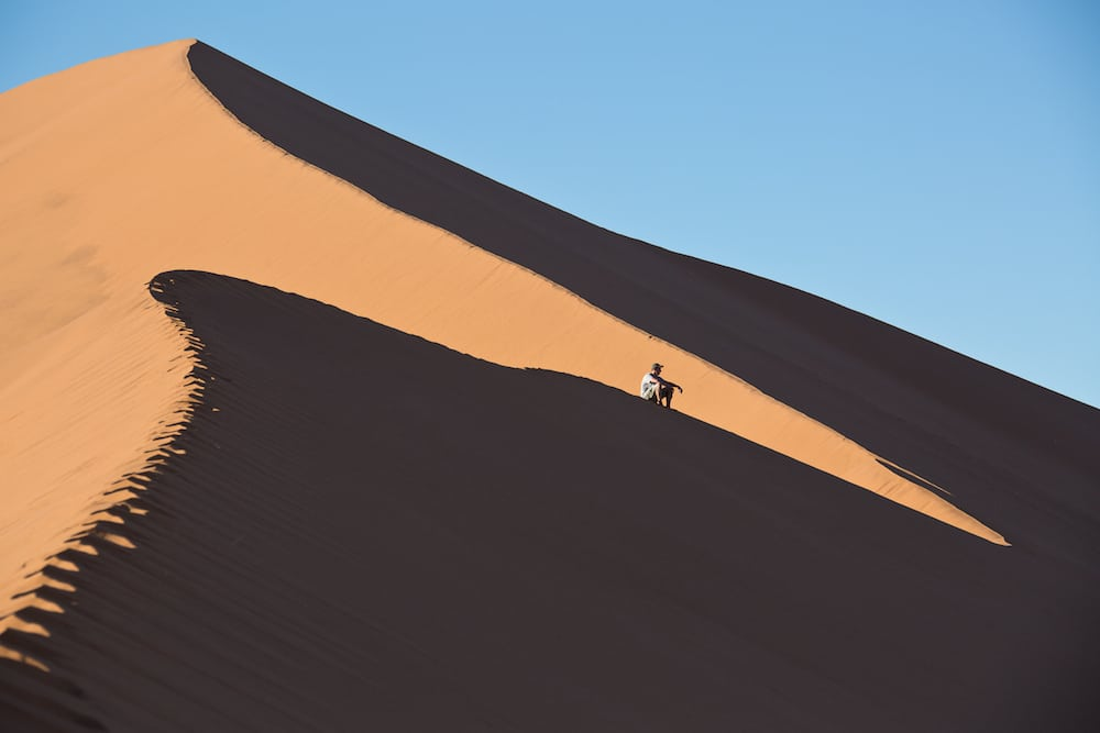 Big Daddy in Namibia, the tallest sand dune in the world
