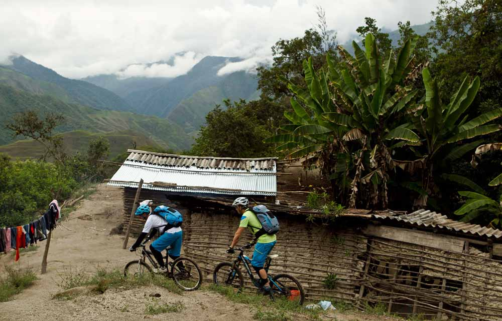 Mountain biking in the Andes of Ecuador