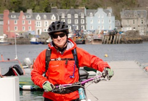 Kevin - our mountain bike guide/poet in Scotland!