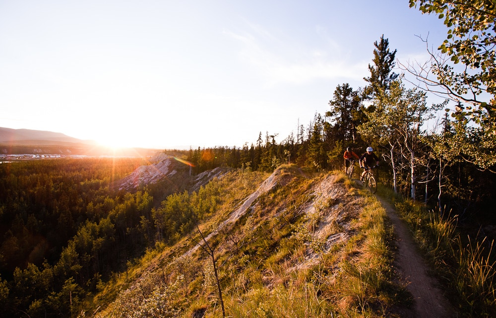 Mountain biking in the  Yukon, Canada