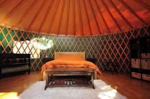Luxury yurt accommodation in the Yukon, Canada