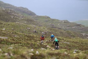 Sweeping singletrack to the coast in Torridon