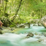 Mountain biking Soca River Slovenia