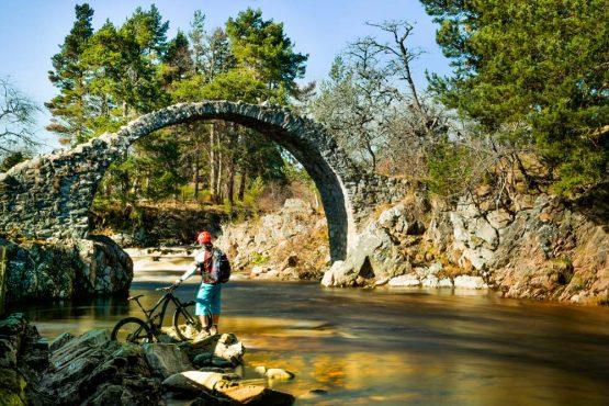 Carr Bridge, Scotland on our mountain bike tour Cairngorms