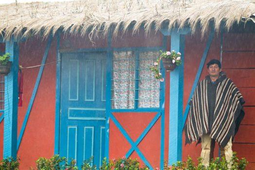 Our hacienda home in the mountains on our mountain bike tour Ecuador
