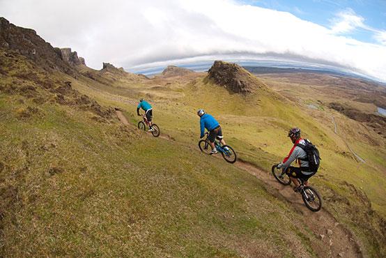 Mountain biking Torridon + Skye Scotland