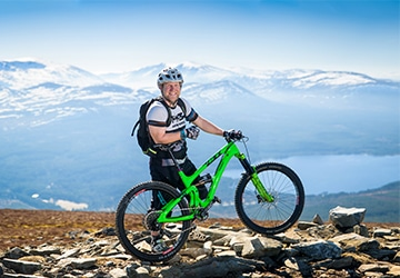 Chris Gibbs, our mountain bike guide in Scotland
