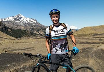 Mountain bike guide in Chile, Ernesto Araneda