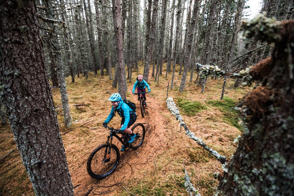 Deep in the Cairngorm National Park on our Tastes + Trails mountain bike tour