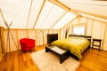Luxury prospector tent accommodation in the Yukon