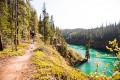 Biking the Yukon River trail