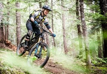 Mountain bike tour British Columbia Canada