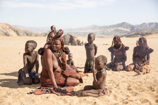 Women and children of the Himba Tribe in Namibia