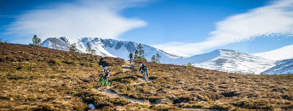Mountain bike guides in Scotland discussing skill and fitness levels