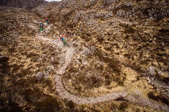 Sweeping rocky trails in Torridon