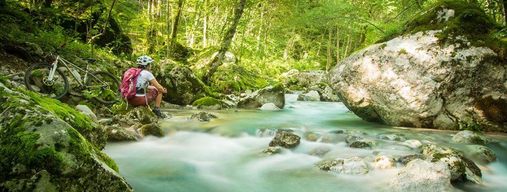 girls mountain biking adventure Slovenia