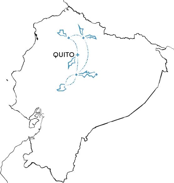 Mountain Biking Tour Ecuador Route Map