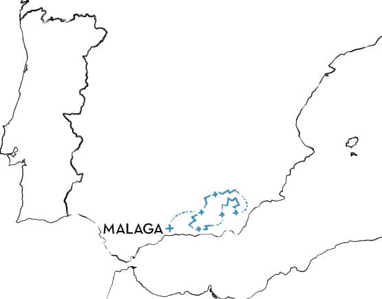 Mountain Biking Tour in Spain Route Map
