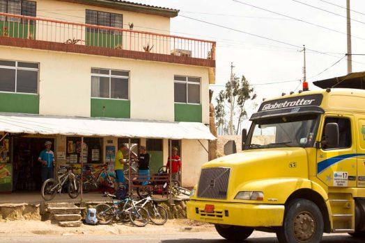 Stopping for a mid-ride refreshment on our mountain bike tour Ecuador