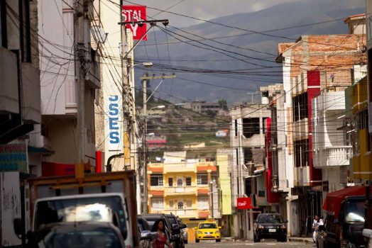 Explore the busy city streets on our mountain bike tour Ecuador