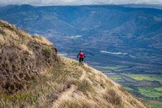 Mountain biking in the Andes of Ecuador with H+I Adventures on our mountain bike tour Ecuador