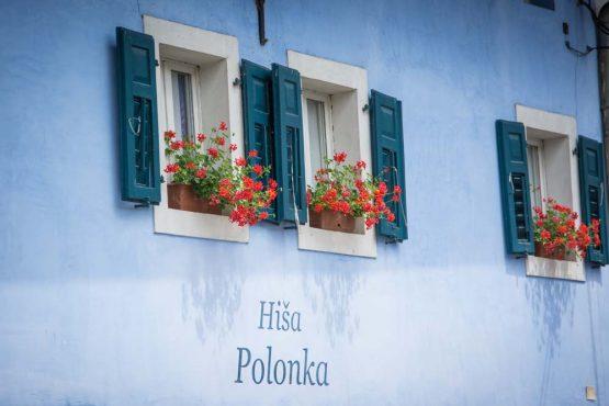 Traditional Slovenian accommodation on our mountain bike tour Slovenia