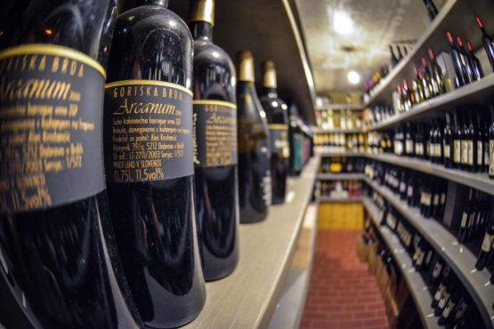 Wine store in Slovenia on our mountain bike tour Slovenia