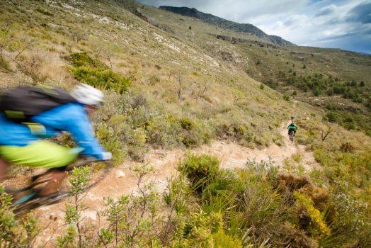 Riding Fast, flowy singletrack on our mountain bike tour Spain