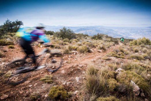 Mountain biking high in the Alpujarra on our mountain bike tour Spain