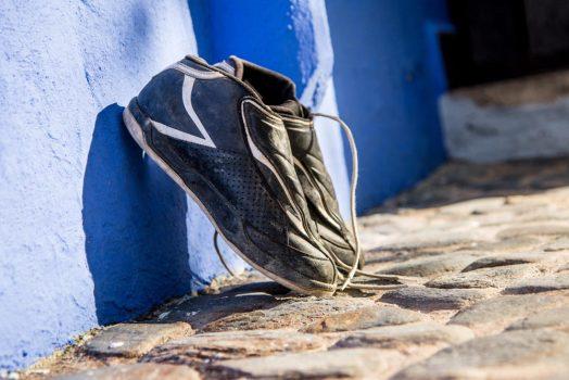 Biking shoes outside on our mountain bike tour Spain
