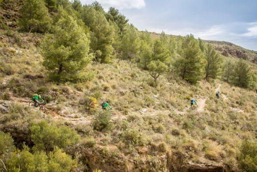 Flowing on our mountain biking tour Spain