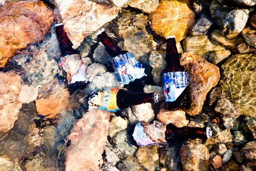 Natural beer cooler in the Yukon Canada on our mountain bike tour Yukon