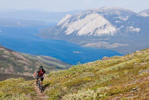 Mountain Hero Mine Trail on our mountain bike tour Yukon