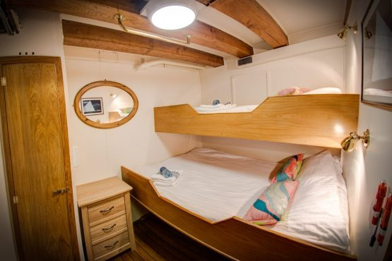 Traditional sleeping quarters on the Gåssten, your home for the week on our Norway mountain bike tour
