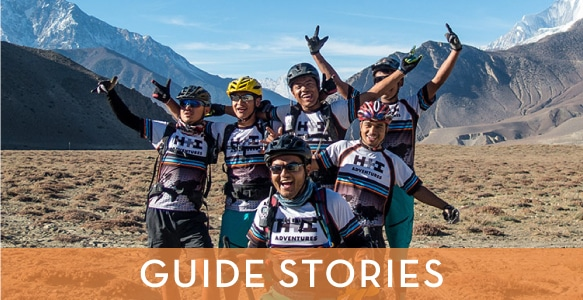 Great guide stories from the team who will lead your mountain bike tour