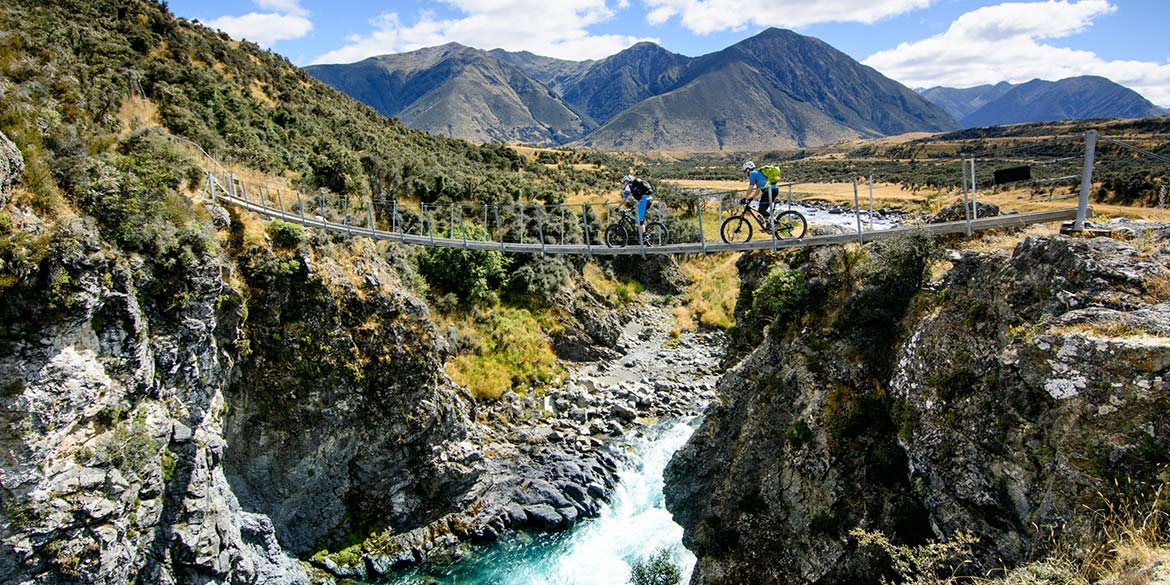Our mountain bike tour of New Zealand takes us across some varied terrain