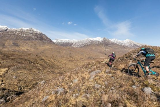 Torridon valley, coast-to-coast Scotland mountain bike tour
