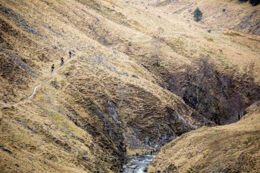 Descending in Morvich, part of our mountain bike tour Torridon and Skye.