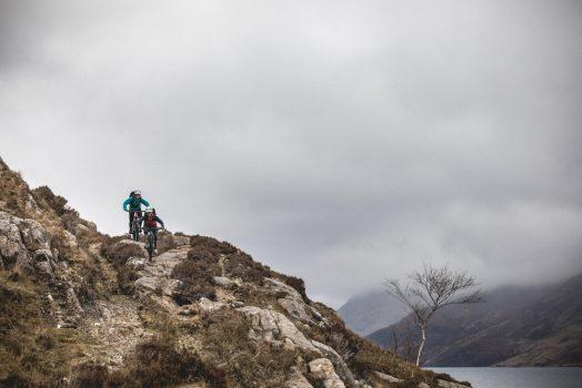 Rocky descending on our mountain bike tour Torridon and Skye