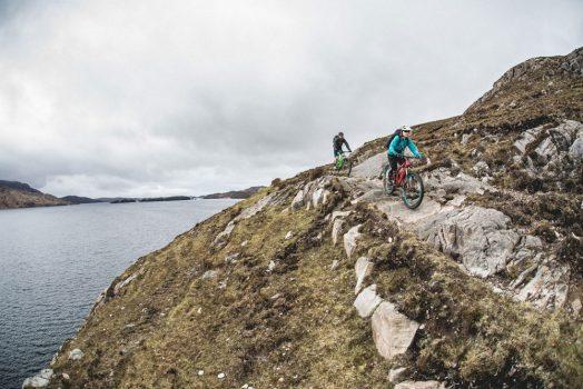 Rock riding on our mountain bike tour Torridon and Skye