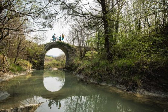 Ancient bridge Cicarija, mountain bike tour Croatia