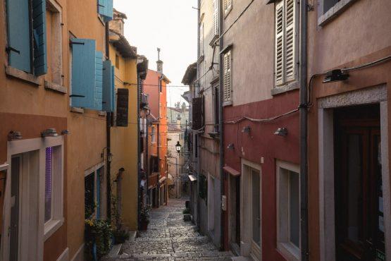 Explore the streets of Rovinj, part of our Croatia Mountain Bike Tour.