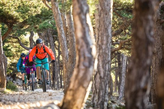 Bikers on Krk Island, mountain bike tour Croatia