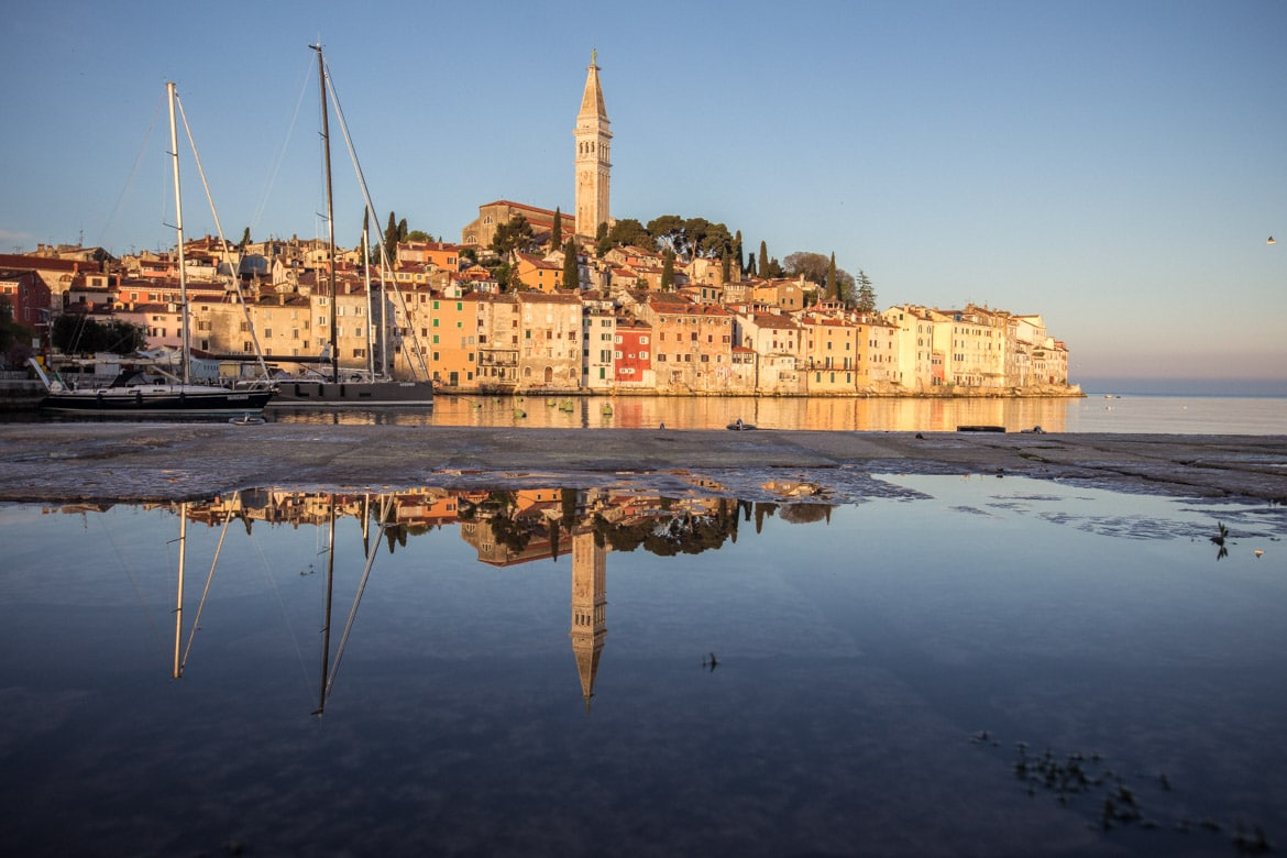 Early morning in Rovinj, part of our Mountain Bike Tour Croatia.
