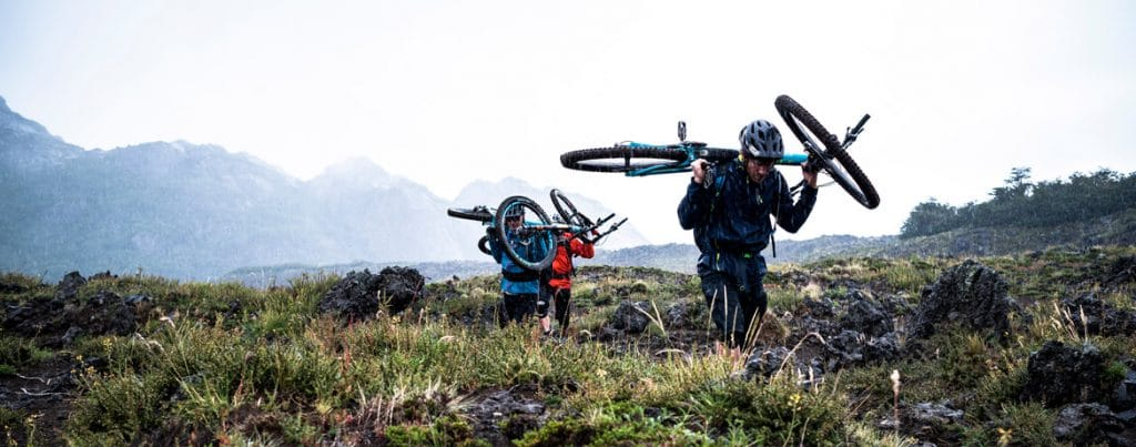 Trail hunting amongst volcanoes in Chile