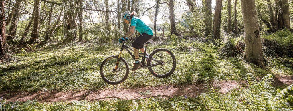 How To Bunny hop a Mountain bike.
